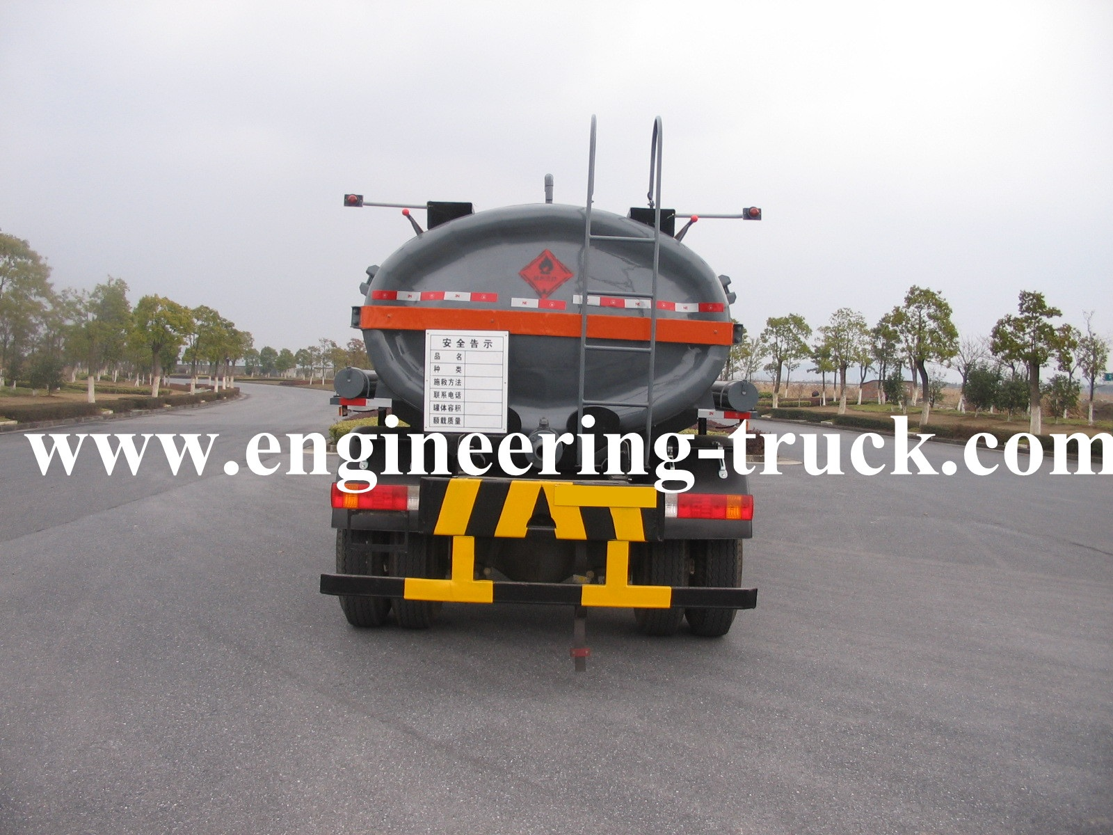16m3 Chemical Liquid Tank Truck for Isobutanol