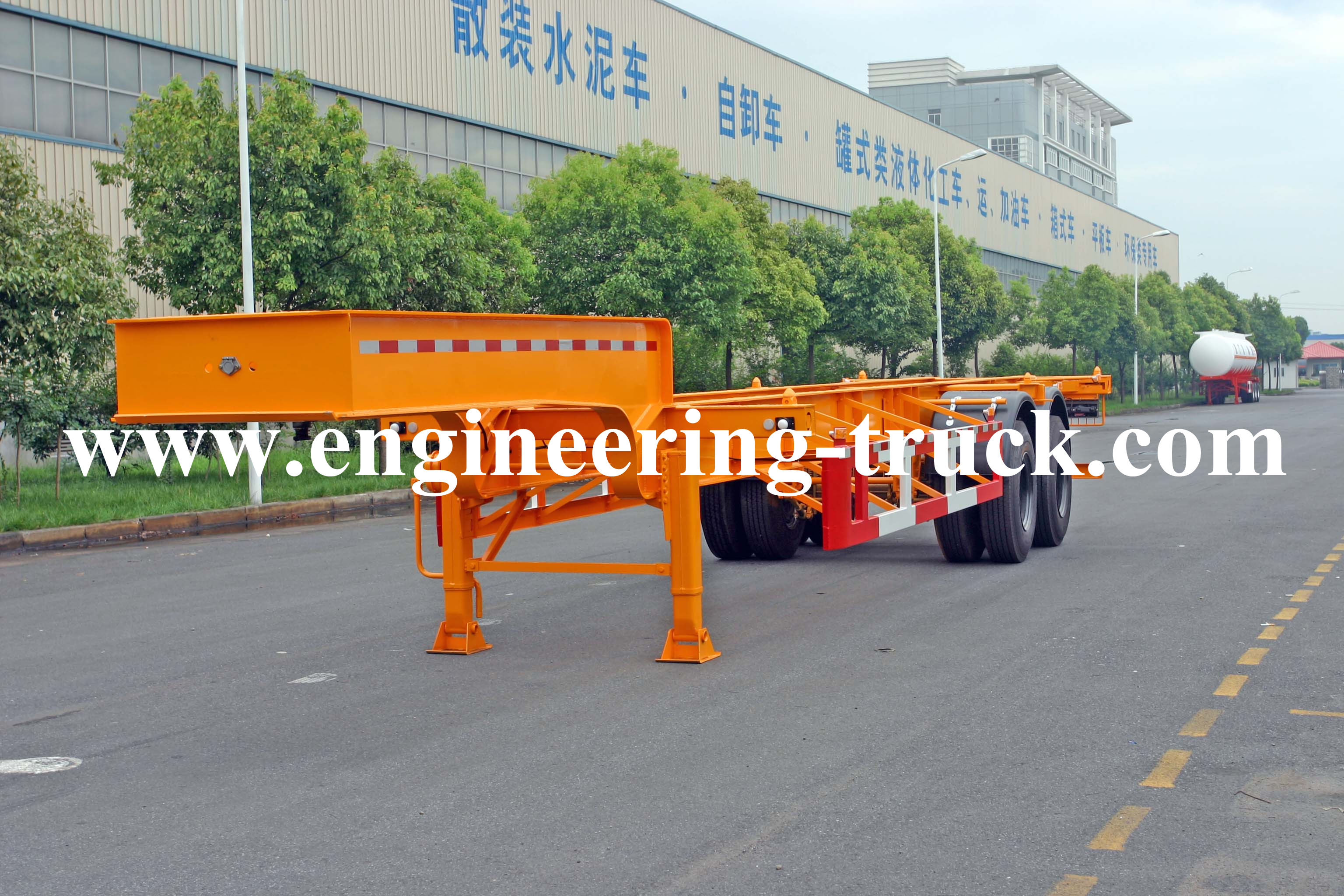 20ft gooseneck container trailer chassis