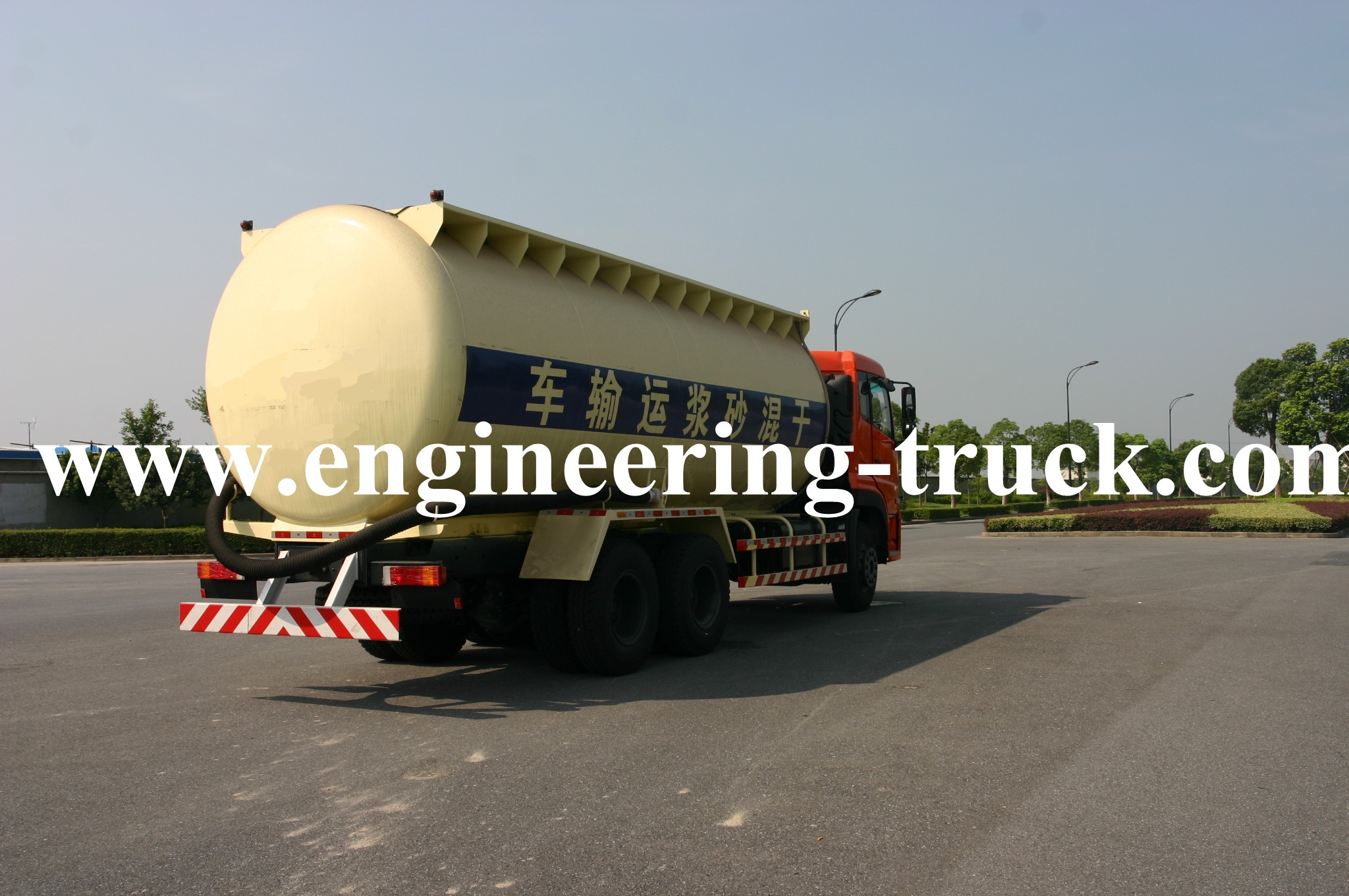Bulk Dry-mixed Powder Mortar Tank Truck