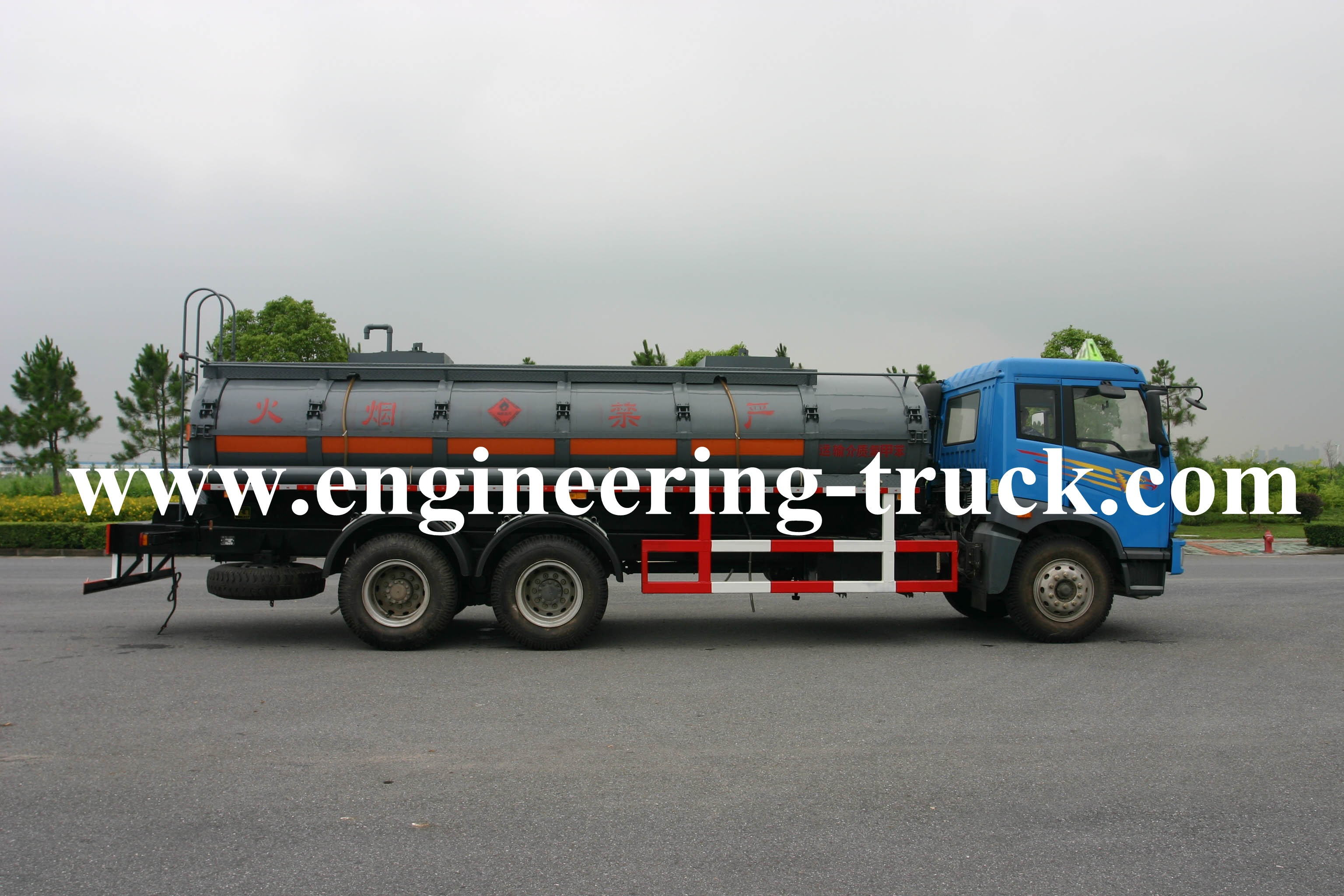 15m3 Chemical Liquid Tank Truck for Fluoroscope