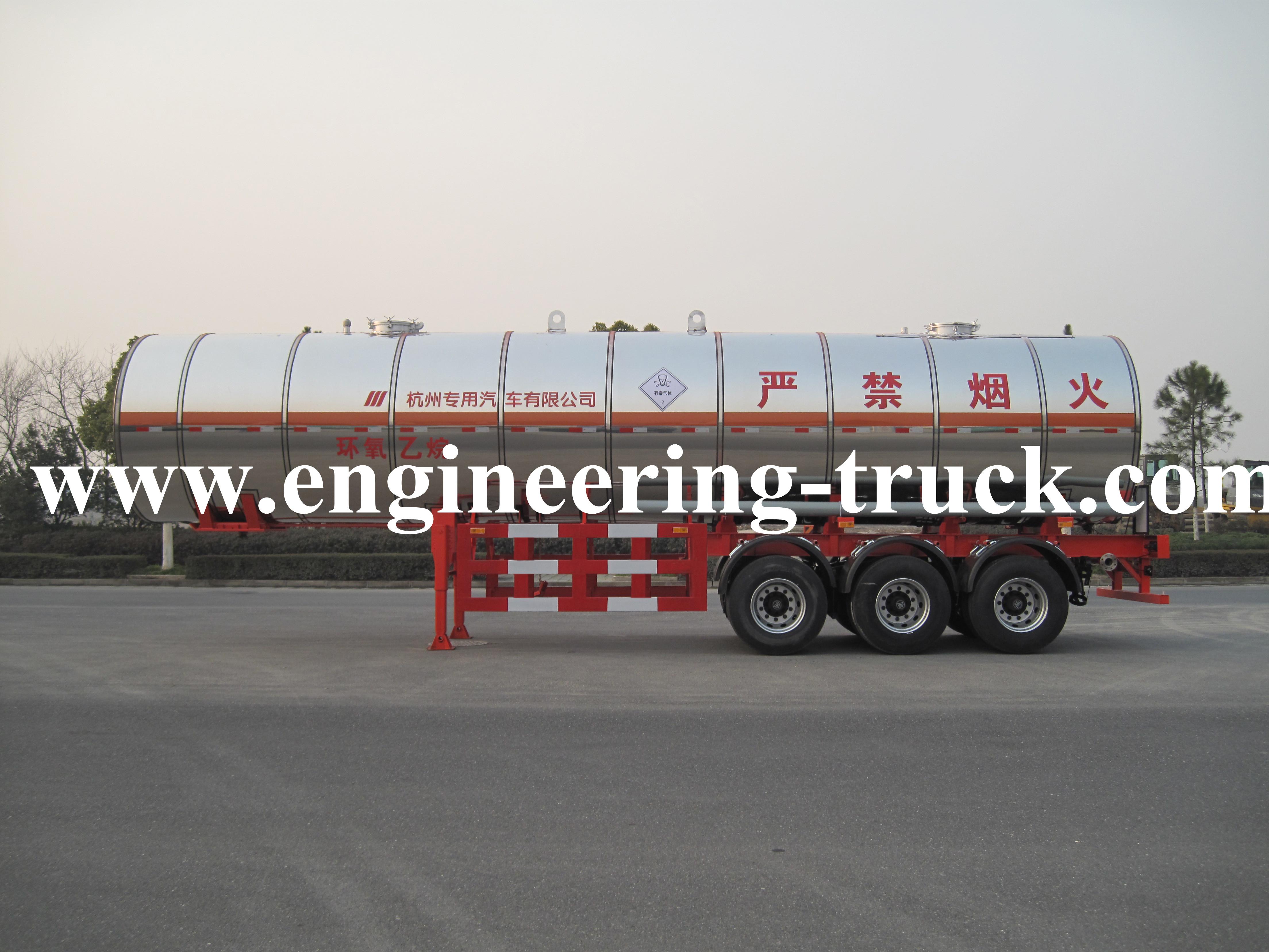 36.8m3 Liquefied Petroleum Gas Tank Semi-trailer for Ethylene oxide