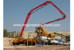 HOWO&ISUZU chassis 45 meter concrete pumper truck